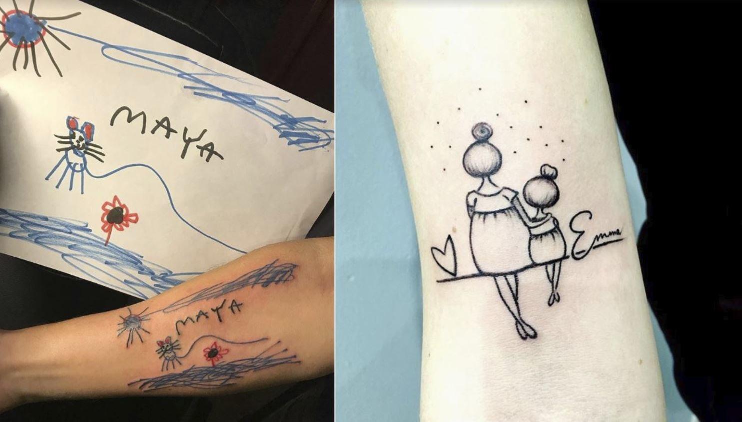Tatuaż Z Imieniem Dziecka 20 Pomysłów Na To Jak Wytatuować